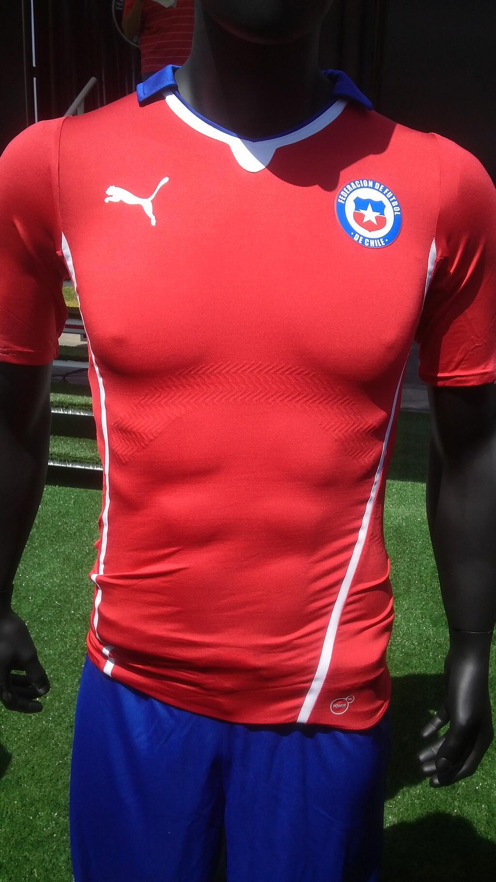 48aa640d9 Conoce la camiseta de Chile en el Mundial Brasil 2014